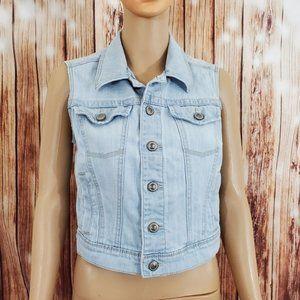 LC Lauren Conrad Jean Vest Small Jacket